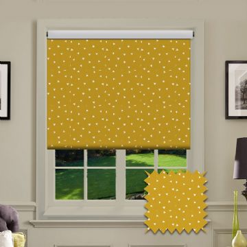 Triangle Patterned Roller Blind in Pico Mustard